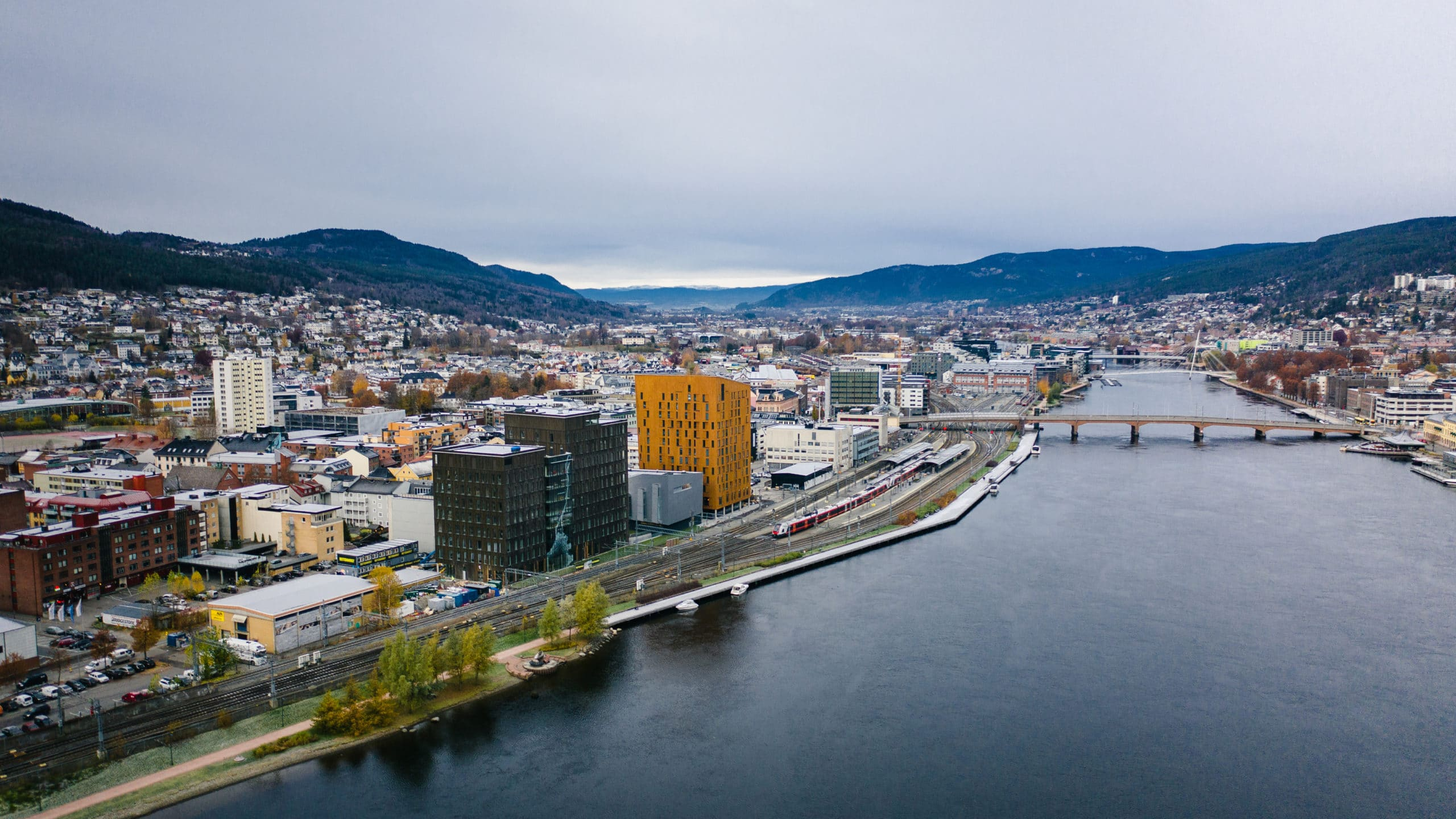 The Norwegian city of Drammen